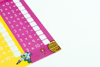 Stock Photo: Multiplication Facts/Timed Tables #4 -Persona