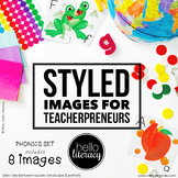 Styled Images for Teacherpreneurs: Phonics Set of 8-Personal & Commercial Use