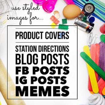 Styled Images for Teacherpreneurs: STEM Set 1 (Personal & Commercial Use)