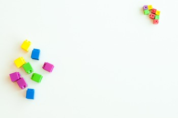 Stock Photo Styled Image: Unifix Cubes #2-Personal & Comme