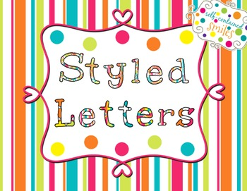 Painted Clip Art Letters