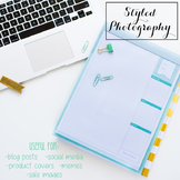 Styled Stock Photo: Desk BUNDLE - black/gold/mint/pink (Co
