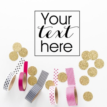 Styled Stock Photo: Office Supplies BUNDLE - Pink/Black/Gold (Comm Use OK)