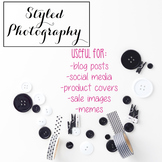 Styled Stock Photo: Office Supplies BUNDLE - Pink/Black/Go