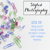 Styled Stock Photo: Office Supplies BUNDLE - Jewel Tones (