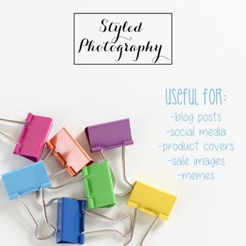 Styled Stock Photo: Office Supplies - Rainbow  set 1 (Comm Use OK)