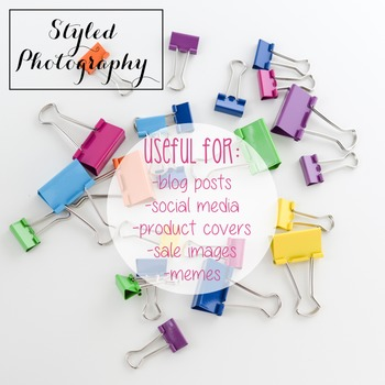 Styled Stock Photo: Office Supplies - Rainbow  set 2 (Comm Use OK)