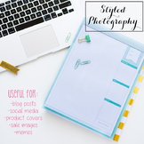 Styled Stock Photo: Office Supplies set 1 - black/gold/min