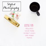 Styled Stock Photo: Office Supplies set 3 - black/gold/min