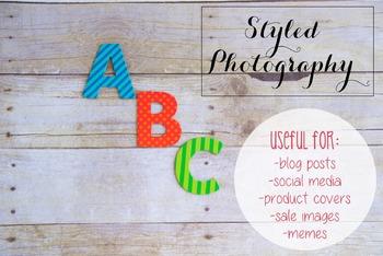 Styled Stock Photo: Phonics set 12 (Comm Use OK)
