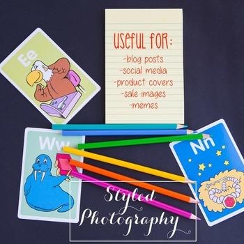 Styled Stock Photo: Phonics set 4 (Comm Use OK)