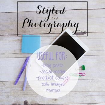 Styled Photography: iPad/Computer Set 1 (Comm Use OK)