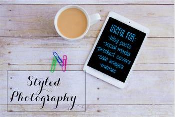 Styled Stock Photo: iPad/Computer Set 3 (Comm Use OK)