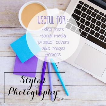 Styled Photography: iPad/Computer Set 6 (Comm Use OK)