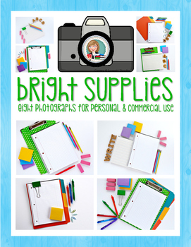 Styled Photos: Bright School Supplies