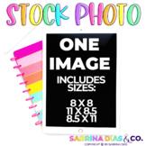 Stock Photos for Teacherpreneurs: iPad Rainbow Notebook