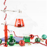 Styled Stock Photo 21 [Christmas Lab equipment 1]