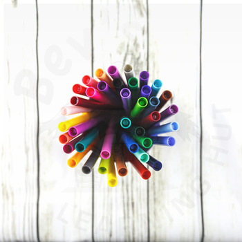Styled Stock Photo 38 [Colored pens]