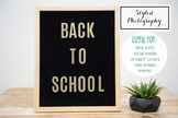 """Styled Stock Photo: Felt Letterboard """"Back to School"""" (Com"""