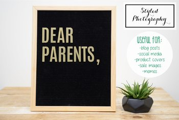 "Styled Stock Photo: Felt Letterboard ""Dear Parents"" (Comm Use OK)"