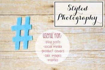 Styled Stock Photo: Hashtag/Pound/Number (Comm Use OK)