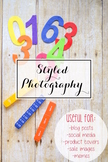 Styled Stock Photo: Math set 2 (Comm Use OK)
