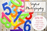 Styled Stock Photo: Math set 7 (Comm Use OK)