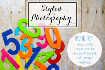 Styled Stock Photo: Math set 8 (Comm Use OK)