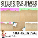 Styled Stock Photos for TpT Sellers - Cork Board Post Its Theme