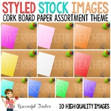 Styled Stock Photos for TpT Sellers Cork Board Paper Assor