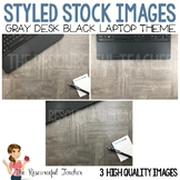 Styled Stock Photos for TpT Sellers - Gray Teacher Desk Bl