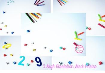 Styled Stock Photos Set 3 (Dice & School Supplies)