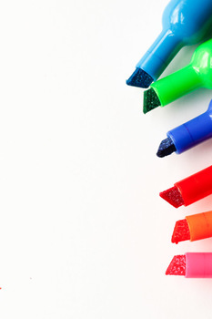 Styled Stock Photos for Pinterest: Markers