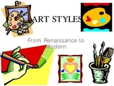 Styles of Art - Paintings - from Renaissance to Modern Art