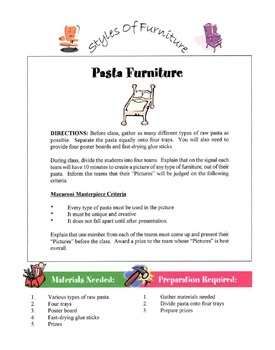 Styles of Furniture Lesson