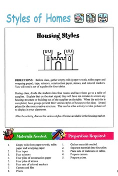 Styles of Homes Lesson