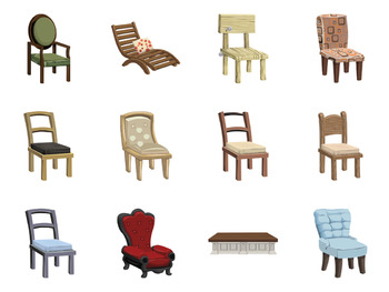 Beau Stylish Furniture Clip Art   Public Domain Vector Art   Chairs, Beds, Tables