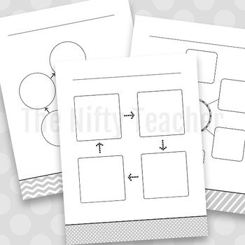 Stylish Graphic Organizer Variety Pack (For B&W Printing)