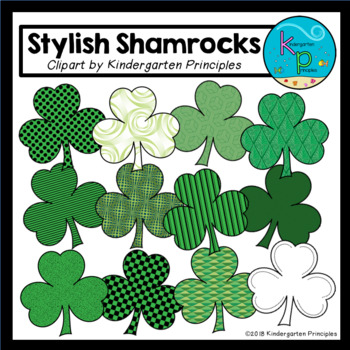 Stylish Shamrocks Clipart Set