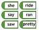 Stylish and Fun Dolch Kindergarten Sight Word Tags ~ Cards