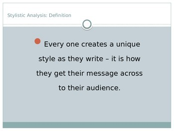 Stylistic Analysis Powerpoint