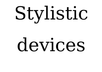 Stylistic Devices display