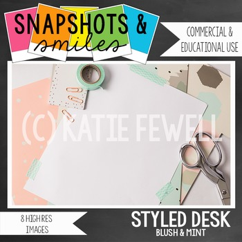 Photo: Stylized Desk: Blush Mint: 8 images