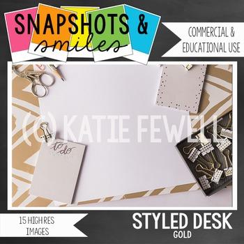 Photo: Stylized Desk: Gold: 15 images