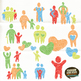 Stylized Family People Clip Art