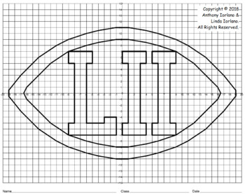Four Quadrant Stylized Football Trophy Mystery Picture for Super Bowl