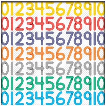 Stylized Number and Math Symbol Clip Art