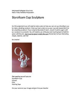 Styrofoam Cup Sculptures