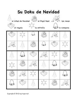 Christmas Sudoku.Sudoku De Navidad A Christmas Sudoku In Spanish