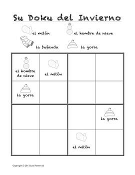 SuDoku del Invierno- A Winter SuDoku in Spanish